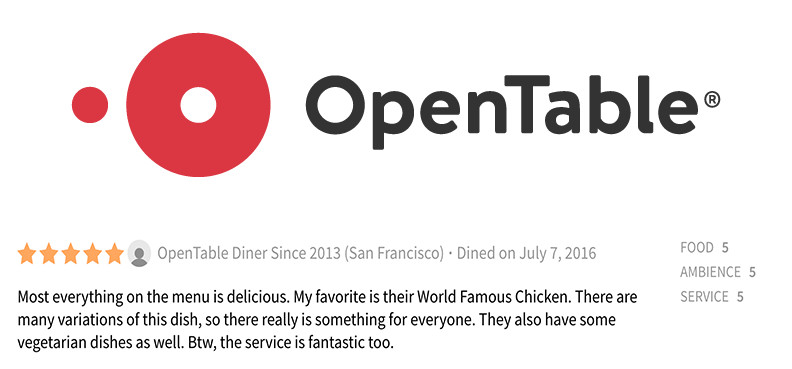 Review Of The Week From OpenTable Bandar Restaurant - Open table menu